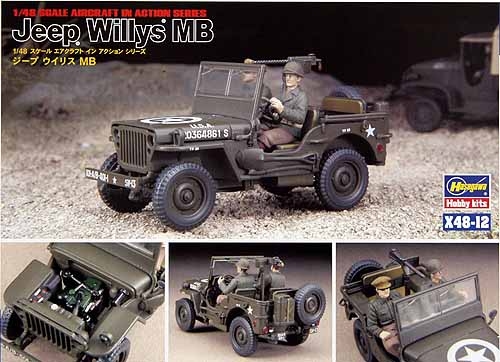 jeep willys mb hasegawa x48 12. Black Bedroom Furniture Sets. Home Design Ideas