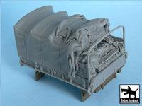 US 2 1/2 ton Cargo Truck open cargo bay canvas for Tamiya 32548, 1 resin part - Image 1