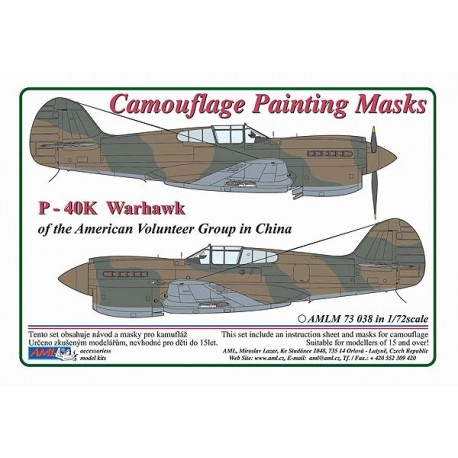 Curtiss P -40 K Warhawk - Camouflage Painting Masks - Image 1