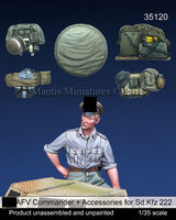 German SS AFV Commander & accessories set for Sd.Kfz. 222 (Dedicated to Tamiya