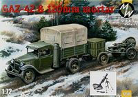 Soviet truck Gaz-42 and 120mm Mortar