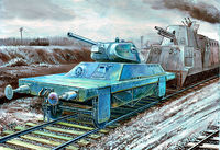 "Armored Platform ""Tank Destroyer"" (as a part of the German armored train)"