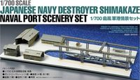 Japanese Navy Destroyer Shimakaze Naval Port Scenery Set