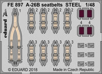 A-26B seatbelts STEEL  REVELL