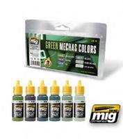 A.MIG 7149 Green Mechas Colors Set