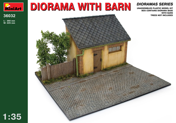 DIORAMA WITH BARN - Image 1