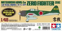 Mitsubishi A6M5/5a Zero Fighter (Zeke) Silver Plated