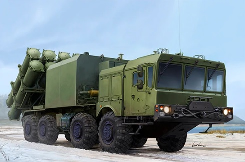 Russian 3S60 launcher of 3K60 BAL/BAL-Elex Coastal Missile Complex - Image 1