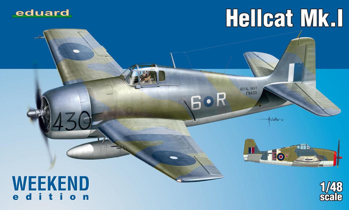 HBB80361 Modellino Aereo Hellcat MK II Hobbyboss 1:48