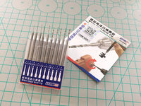 White Steel Drill Tip set 10 in 1