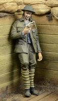 WWI British Infantryman reading a letter - Image 1