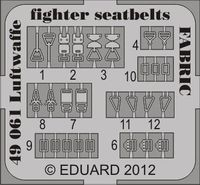 Seatbelts Luftwaffe WWII Fighters FABRIC - Image 1