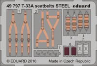 T-33A seatbelts STEEL GREAT WALL HOBBY L4819 - Image 1