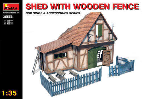Shed with Wooden Fence - Image 1