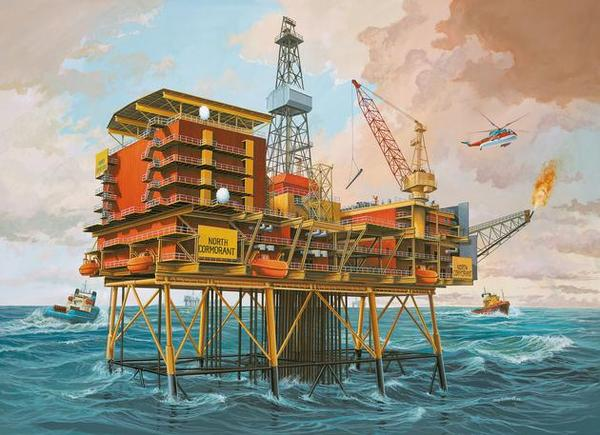 Off-Shore Oilrig North Cormorant - Image 1
