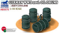 German WWII 200L Oil Drums