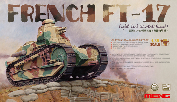 TS-011 French FT-17 Light Tank (Riveted Turret) - Image 1