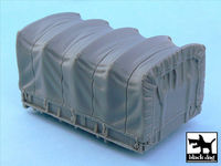 US 2 1/2 ton Cargo Truck cargo bay canvas for Tamiya 32548, 1 resin part - Image 1