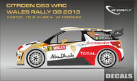 Citroen DS3 WRC Kubica - Wales Rally GB 2013 (Conversion for Heller 80758) - Image 1
