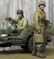 WW2 US NCO & Driver Set (2 figs)