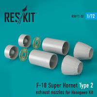 F-18 Super Hornet  Type 2 exhaust nozzles for Hasegawa Kit - Image 1