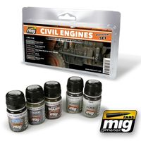 A.MIG-7146 Civil Engines Weathering Set