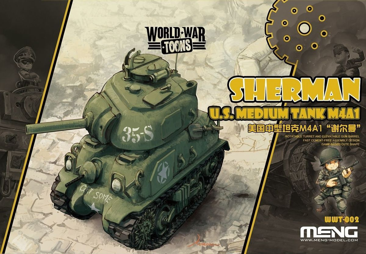 World War Toons -  U.S. Medium Tank M4A1 Sherman - Image 1