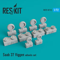 Saab 37 Viggen wheels set - Image 1